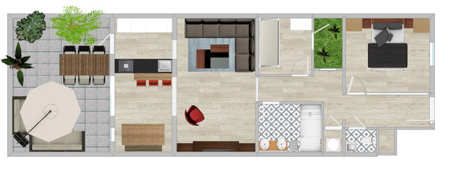 29a Cotoner floorplan furniture