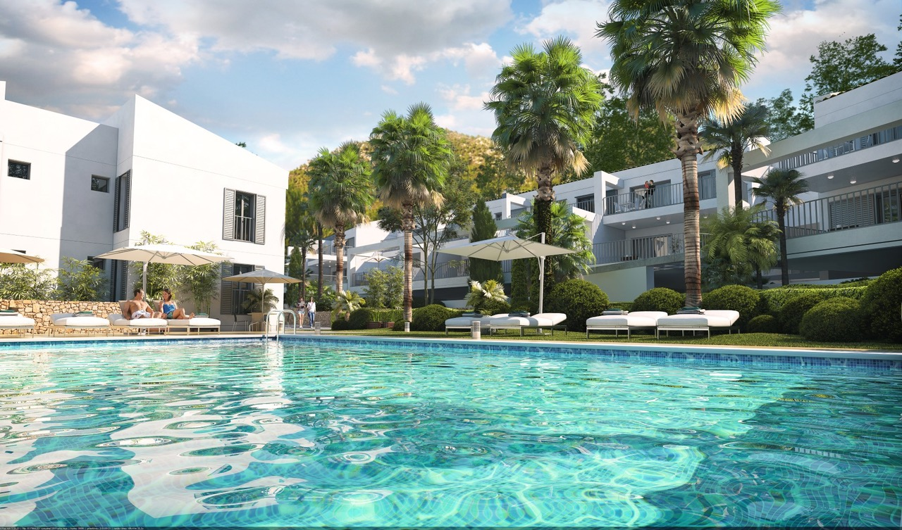 New development near Canyamel Beach, modern style apartments @ Mallorca